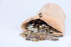 Πλήρης τσάντα των νομισμάτων Στοκ Εικόνα