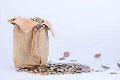 Πλήρης τσάντα των νομισμάτων Στοκ Φωτογραφίες
