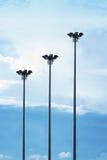 Πλήρης φωτισμός ιστών τρία στο δρόμο Στοκ φωτογραφίες με δικαίωμα ελεύθερης χρήσης