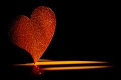 Πλήρης χρυσή καρδιά στοκ εικόνες
