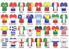 Πλήρη 2014 πουκάμισα Παγκόσμιου Κυπέλλου της FIFA ελεύθερη απεικόνιση δικαιώματος