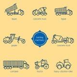 Πλήρωμα κατασκευής, οχήματα οικοδόμησης ελεύθερη απεικόνιση δικαιώματος