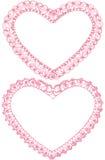 Πλαίσια δαντελλών καρδιών Στοκ εικόνες με δικαίωμα ελεύθερης χρήσης
