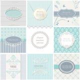 Πλαίσια, κάρτες και σχέδια Εκλεκτής ποιότητας πρότυπα Στοκ εικόνα με δικαίωμα ελεύθερης χρήσης