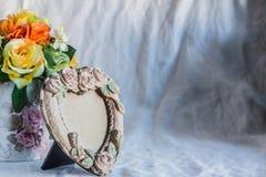 Πλαίσια και βάζα των λουλουδιών Στοκ Εικόνες