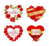 Πλαίσια με τα κόκκινα τριαντάφυλλα Στοκ Εικόνες