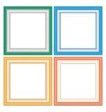 Πλαίσια στα χρώματα κρητιδογραφιών απεικόνιση αποθεμάτων