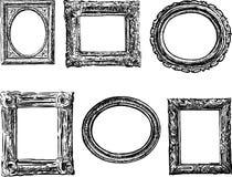 Πλαίσια στο μπαρόκ ύφος Στοκ φωτογραφίες με δικαίωμα ελεύθερης χρήσης