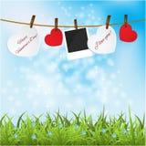 Πλαίσια φωτογραφιών. Κάρτα ημέρας βαλεντίνου. απεικόνιση αποθεμάτων