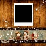 Πλαίσια φωτογραφιών Χριστουγέννων Στοκ Εικόνες