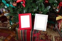 Πλαίσια φωτογραφιών Χριστουγέννων Στοκ φωτογραφία με δικαίωμα ελεύθερης χρήσης