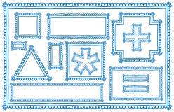 Πλαίσια Doodle Στοκ εικόνα με δικαίωμα ελεύθερης χρήσης