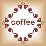 Πλαίσιο λέξης καφέ απεικόνιση αποθεμάτων