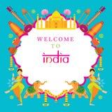 Πλαίσιο έλξης ταξιδιού της Ινδίας Στοκ Εικόνα