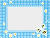 Πλαίσιο ή σύνορα με τις αστείες μέλισσες στοκ εικόνα