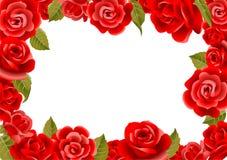 Πλαίσιο από τα κόκκινα τριαντάφυλλα Στοκ εικόνες με δικαίωμα ελεύθερης χρήσης