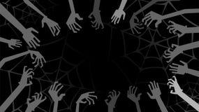 Πλαίσιο από τα χέρια zombies Στοκ Εικόνες