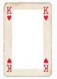 Πλαίσιο από τον παλαιό βασιλιά της κάρτας παιχνιδιού καρδιών Στοκ εικόνες με δικαίωμα ελεύθερης χρήσης