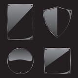 Πλαίσιο γυαλιού στη μαύρη συλλογή υποβάθρου διανυσματική απεικόνιση