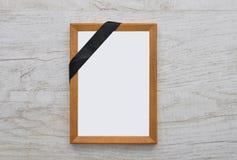 Πλαίσιο εικόνων με τη ζώνη πένθους Στοκ Εικόνες