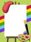 Πλαίσιο ζωγράφων καλλιτεχνών ελεύθερη απεικόνιση δικαιώματος