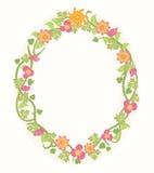 Πλαίσιο θερινών λουλουδιών Στοκ Εικόνα
