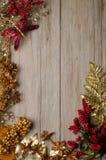 Πλαίσιο διακοσμήσεων Χριστουγέννων Στοκ Φωτογραφία