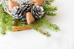 πλαίσιο διακοσμήσεων Χριστουγέννων Στοκ φωτογραφία με δικαίωμα ελεύθερης χρήσης
