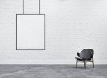 Πλαίσιο και καρέκλα στην αποθήκη εμπορευμάτων Στοκ Εικόνες