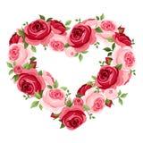Πλαίσιο καρδιών τριαντάφυλλων. διανυσματική απεικόνιση