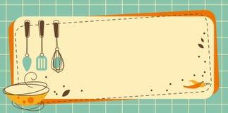 Πλαίσιο κουζινών διανυσματική απεικόνιση