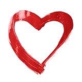 Πλαίσιο κτυπήματος βουρτσών μορφής καρδιών Στοκ εικόνα με δικαίωμα ελεύθερης χρήσης