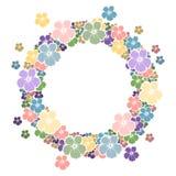 Πλαίσιο κύκλων με τα λουλούδια για το κείμενό σας Στοκ Φωτογραφίες