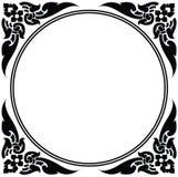 Πλαίσιο κύκλων του ταϊλανδικού σχεδίου Στοκ Φωτογραφία