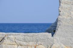 Πλαίσιο μαρμάρου, θάλασσας και ουρανού Στοκ Εικόνα