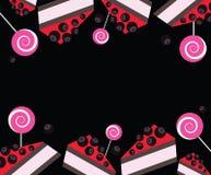 Πλαίσιο με κομμάτια των κέικ Διανυσματική τέχνη συνδετήρων Στοκ φωτογραφία με δικαίωμα ελεύθερης χρήσης