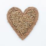 Πλαίσιο με μορφή της καρδιάς με τη σίκαλη στοκ φωτογραφία με δικαίωμα ελεύθερης χρήσης