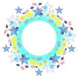 πλαίσιο με τα αστέρια Στοκ εικόνα με δικαίωμα ελεύθερης χρήσης
