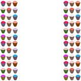 Πλαίσιο με τα ζωηρόχρωμα cupcakes Στοκ φωτογραφίες με δικαίωμα ελεύθερης χρήσης