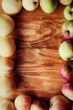 πλαίσιο με τα μήλα Στοκ Εικόνα