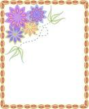 Πλαίσιο με τα λουλούδια ελεύθερη απεικόνιση δικαιώματος