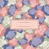 Πλαίσιο με τα peonies Floral υπόβαθρο με τα peonies Στοκ εικόνα με δικαίωμα ελεύθερης χρήσης