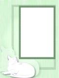 Πλαίσιο με τη γάτα Στοκ φωτογραφία με δικαίωμα ελεύθερης χρήσης