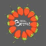 Πλαίσιο με τη φράουλα ελεύθερη απεικόνιση δικαιώματος
