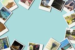 Πλαίσιο με τις παλαιές φωτογραφίες του εγγράφου Στοκ φωτογραφία με δικαίωμα ελεύθερης χρήσης