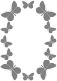 Πλαίσιο με τις πεταλούδες Στοκ φωτογραφία με δικαίωμα ελεύθερης χρήσης