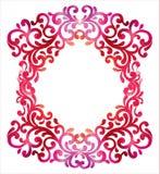 Πλαίσιο με το διακοσμητικό floral υπόβαθρο watercolor Διανυσματικό Illust Στοκ εικόνες με δικαίωμα ελεύθερης χρήσης
