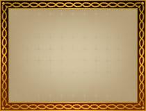 Πλαίσιο με χρυσό twirl Στοκ Εικόνες