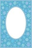 Πλαίσιο με snowflakes Στοκ φωτογραφία με δικαίωμα ελεύθερης χρήσης