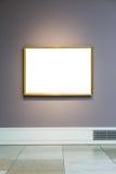 Πλαίσιο Μουσείων Τέχνης χλωμό - μπλε λευκό σχεδίου τοίχων περίκομψο ελάχιστο Στοκ εικόνα με δικαίωμα ελεύθερης χρήσης